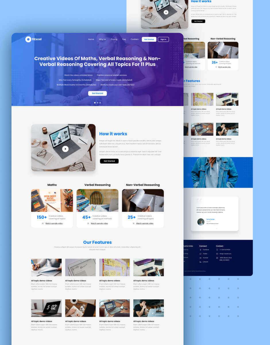 website design for 11excel