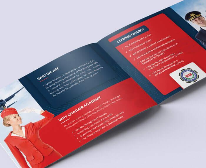 logo and website design for Quadair Academy